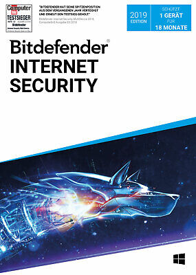 Bitdefender Internet Security 2019 / 2020 - Inkl. VPN - 18 Monate / 1 PC