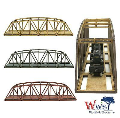 OO//HO Model Railway WWS Double Track Low-Detail MDF Bowstring Bridge 400mm