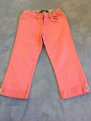 Mini boden trousers, salmon pink jeans, turn ups, age 12