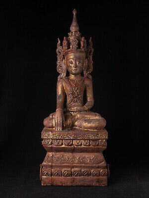 Antique Burmese Shan Buddha statue from Burma, 19th century