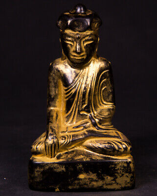 Antique Burmese Lotus Buddha statue from Burma, 19th century