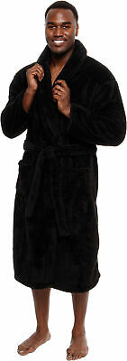 Ross Michaels Mens  Luxury Plush 400gsm Big & Tall Mid Length Robe