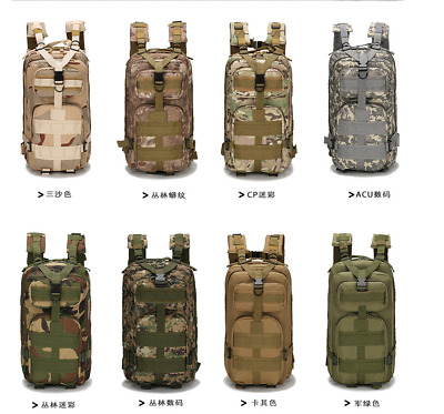 new Hiking Camping Bag Army Military Tactical Trekking Rucksack Backpack Camo