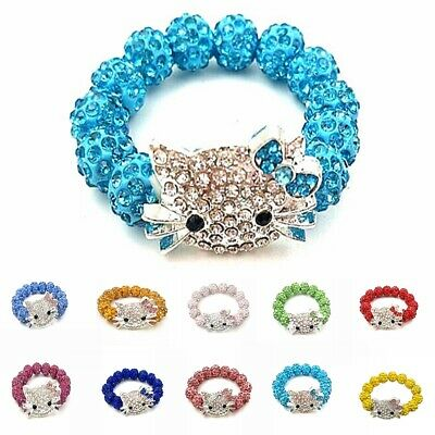 Kid Child Girl Candy Color Crystal Bracelets Birthday Best Gift Bangle Jewelry