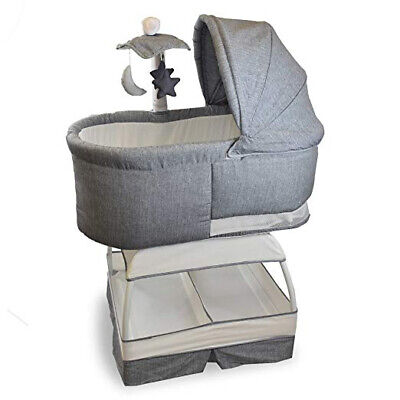 Bassinet - Sweetli Deluxe in Stonewash by Baby Bliss