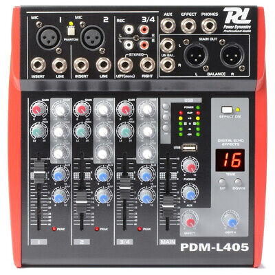 B-Stock 4-Channel Sound Mixer Console PA Live Sound Studio USB MP3 Echo