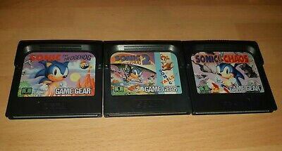 Sonic The Hedgehog, Chaos And Sonic 2- Sega Game Gear - Cart Only