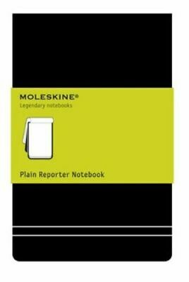Pocket Reporter Plain Notebook Black Moleskine Notebook / Blank Book NEW