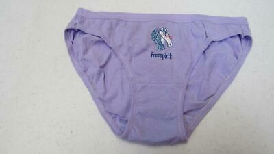 Fruit of the Loom Girls Underwear Panties Bikinis Lavender w/Unicorn Size 10 NEW