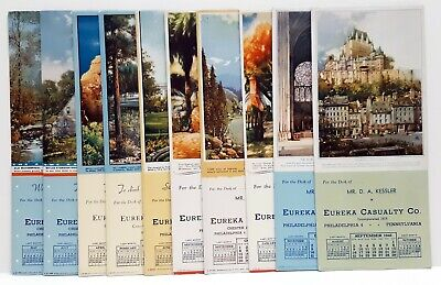 Vintage Blotter Eureka Casualty Co. White House Alcan Hwy France 1940s Lot of 10