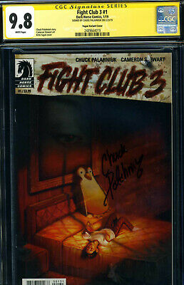 c6a92871369af FIGHT CLUB 2 #1 Variant CGC SS 9.8 SIGNED Chuck Palahniuk Dark Horse ...