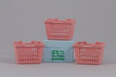 1:6 Scale Miniature Food Grocery Store Basket Cart Dollhouse Rement Supermarket