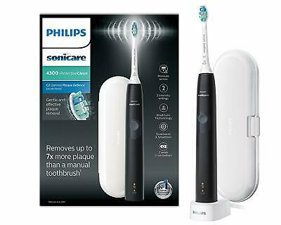 Black Philips Sonicare ProtectiveClean 4300 Electric Toothbrush with Travel Case