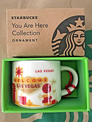 Starbucks Demitasse LAS VEGAS, NV YAH You Are Here Mini mug Ornament 2oz NIB xJ