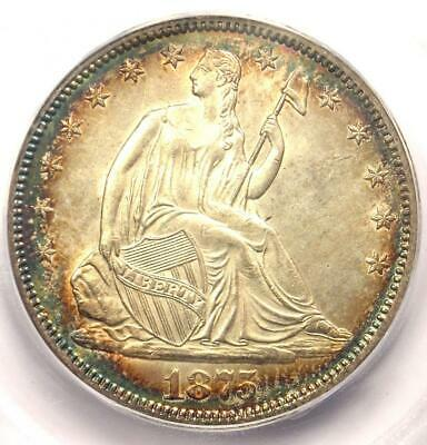 1875 Seated Liberty Half Dollar 50C - Certified ICG MS64 (BU) - $1,500 Value!
