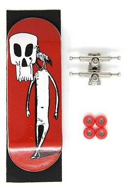 Skull Fingerboards The Grizzly Bear 32mm Complete Professional Wooden Fingerboard Mini Skateboard 5 PLY with CNC Bearing Wheels