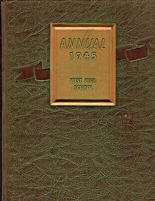 "1945 ""Annual"" - West High School Yearbook - Rockford, IL"