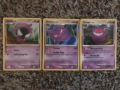 JAPANESE POKEMON CARDS Gastly 030 031 Haunter 032 Gengar 033/095
