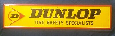 Vintage Metal Store Display  Sign Advertising Dunlop Tire Safety Specialists