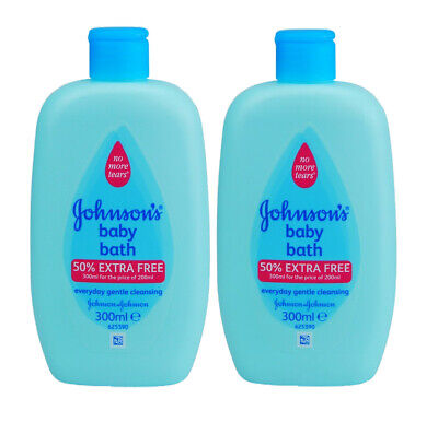 2 X JOHNSONS BABY BATH 300ml NEW ** NO TEARS MILD  GENTLE CLEANSING