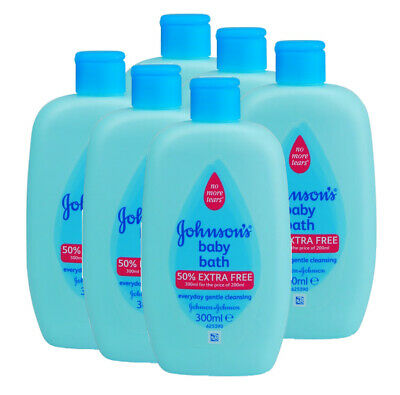 6 X JOHNSONS BABY BATH 300ml NEW ** NO TEARS MILD  GENTLE CLEANSING