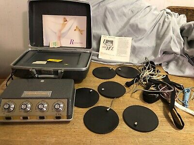 RELAX-A-CIZOR model25 Electric Muscle Stimulator Beauty Massager And Accessories
