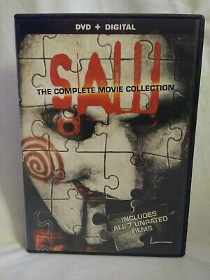 Saw The Complete Movie Collection DVD + Digital Copy 2014 4-Disc Set
