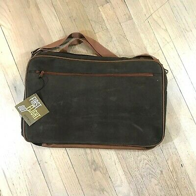 """New Aramis Brown Travel Bag First Flight Out Clip On Shoulder Strap 20x13"""""""