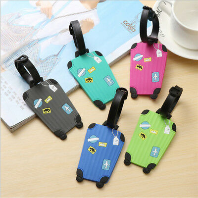 Luggage Travel Suitcase Bag Id Tag Name Address ID Label Baggage Card Holder MA