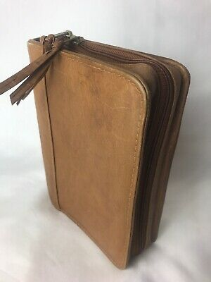 "Vintage Leather Notebook Cover  7.5"" X 5.5"""