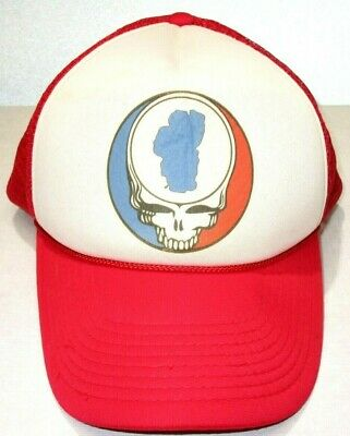 4a363480bea5f Vintage Grateful Dead Steal Your Face Snapback Hat skull roses/Trucker Cap