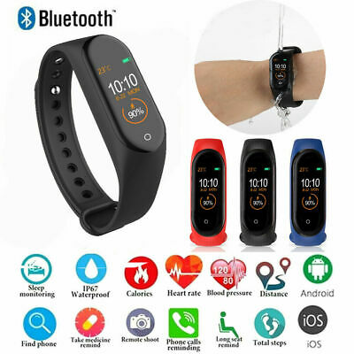 M4 Global Version bluetooth Sport Smart Watch Heart Rate Monitor Fitness Tracker