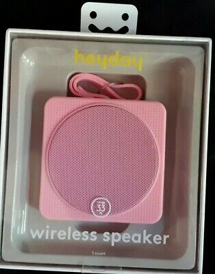 HEYDAY CYLINDER PORTABLE Bluetooth Speaker With Strap - Pink