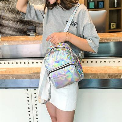 Holographic Laser Backpack Women School Travel Shoulder Rucksack Bag Girl Bag LA