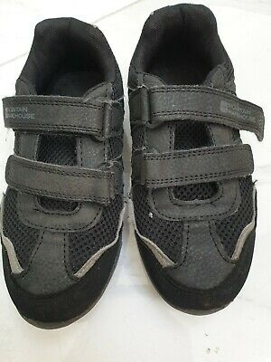 Mountain Warehouse boy's black trainers with non-marking soles size C12 velcro