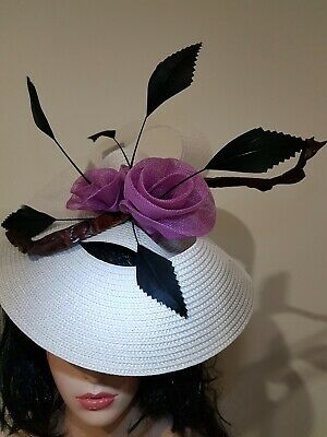 Fascinator hatinator hat races wedding costume formal crocodile leather