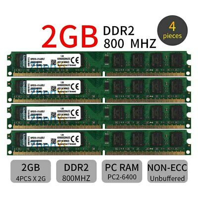 Desktop Memoria Per Kingston 8GB 8G 4 x 2GB PC2-6400U DIMM DDR2-800 1.8V ZT IT