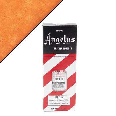 C--072 Angelus Permanent Leather Dye With Applicator 3Oz Gold