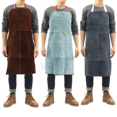 Welder Apron Heat Insulation Cow Leather Heavy Duty Welding Protection 60x90cm !