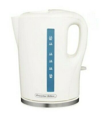Electric Water Kettle Cordless 1.7L White New
