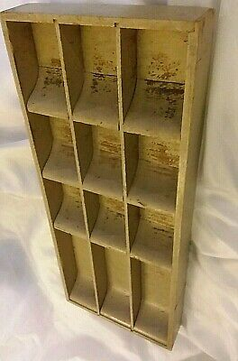 Antique Vintage Primitive Heavy Painted Wood Money Change Drawer, Very Well Made