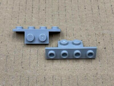 Light Bluish Gray Bracket 1x2-1x4 with Rounded Corner 2436b NEUF LEGO x 4