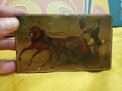 An Antique Hand painted Russian Tin Snuff Box