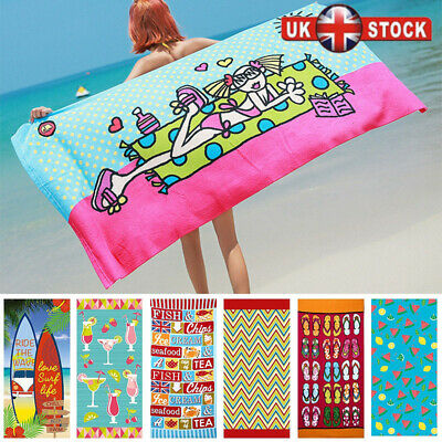 Large Lightweight Microfibre Beach Bath Towel Swimming Spa Sport Gym Travel Hot