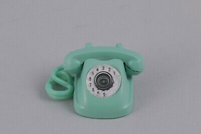 1:6 Scale Miniature Retro Phone Telephone Rement Dollhouse Blue