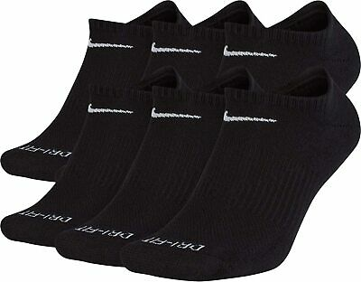 Nike Everyday Plus 6-Pair Pack No Show Cotton Cushioned Dri-Fit Socks SX7675 010
