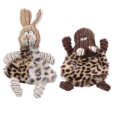 Unstuffed Plush Dog Puppy Pet Squeaker Toys Squeaky Funny Sound Play Chew Toy MA