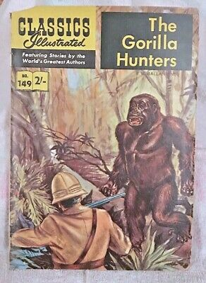 Vintage Classics Illustrated Comic 149 The Gorilla Hunters Rare Uk & Aussie Only