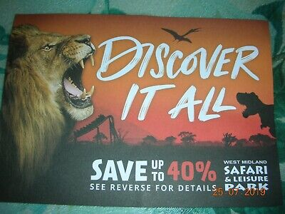 West Midlands Safari Park Voucher (up to 40% off per person upto 6 people)