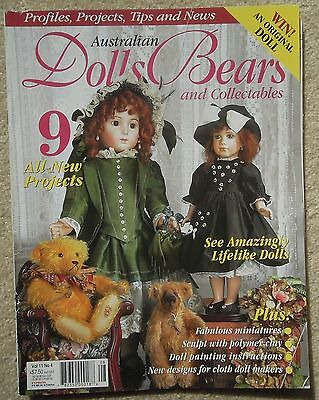 AUSTRALIAN DOLLS BEARS & COLLECTABLES Vol 11 No 4 Incl. PATTERN SHEET